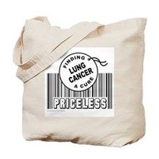 LUNG CANCER FINDING A CURE Tote Bag