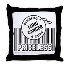 LUNG CANCER FINDING A CURE Throw Pillow