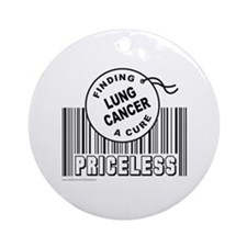 LUNG CANCER FINDING A CURE Ornament (Round)