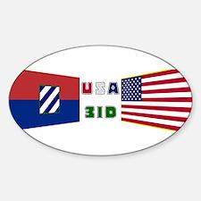 USA 3ID Oval Decal
