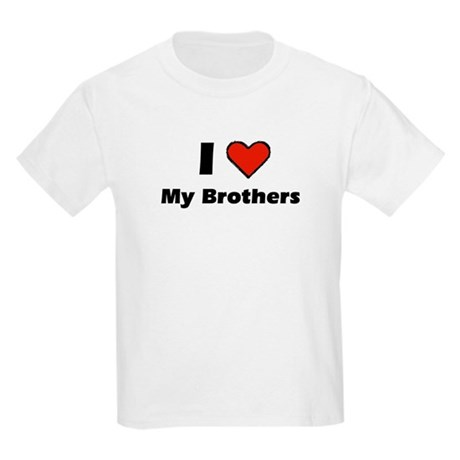 I heart my Brothers Kids Light T-Shirt