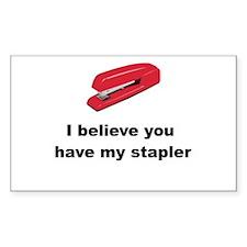 Stapler Decal
