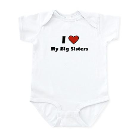 I heart my big Sisters Infant Bodysuit