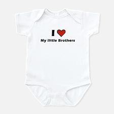 I heart my little Brothers Infant Bodysuit