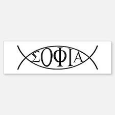 Gnostic Fish Bumper Bumper Bumper Sticker