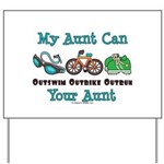 Aunt Triathlete Triathlon Yard Sign