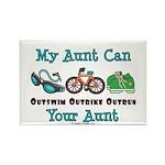 Aunt Triathlete Triathlon Rectangle Magnet (100 pa