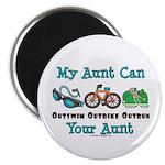 Aunt Triathlete Triathlon Magnet