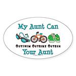 Aunt Triathlete Triathlon Oval Sticker