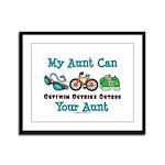 Aunt Triathlete Triathlon Framed Panel Print