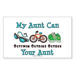 Aunt Triathlete Triathlon Rectangle Sticker