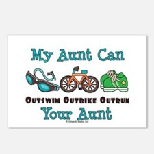 Aunt Triathlete Triathlon Postcards (Package of 8)