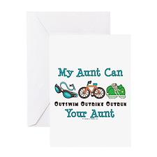 Aunt Triathlete Triathlon Greeting Card