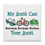 Aunt Triathlete Triathlon Tile Coaster
