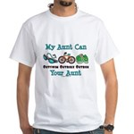 Aunt Triathlete Triathlon White T-Shirt