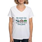 Aunt Triathlete Triathlon Women's V-Neck T-Shirt