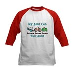 Aunt Triathlete Triathlon Kids Baseball Jersey