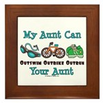 Aunt Triathlete Triathlon Framed Tile