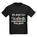 Aunt Triathlete Triathlon Kids Dark T-Shirt