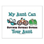 Aunt Triathlete Triathlon Small Poster