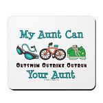 Aunt Triathlete Triathlon Mousepad
