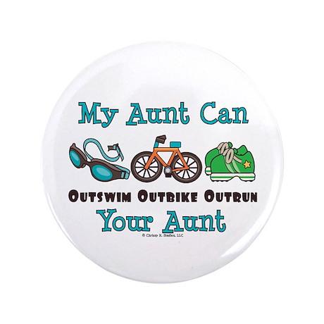 """Aunt Triathlete Triathlon 3.5"""" Button"""
