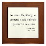 Mark Twain 39 Framed Tile
