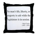 Mark Twain 39 Throw Pillow