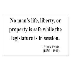 Mark Twain 39 Rectangle Decal