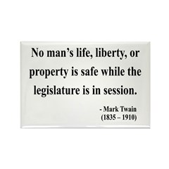 Mark Twain 39 Rectangle Magnet (10 pack)