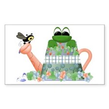 Lilly's Pad Watering Can Rectangle Decal