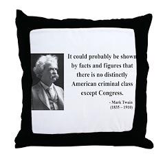 Mark Twain 16 Throw Pillow