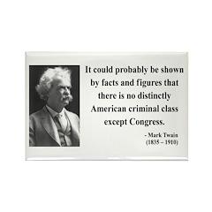 Mark Twain 16 Rectangle Magnet (100 pack)