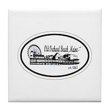 Old Orchard Beach Maine Tile Coaster