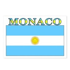 Monaco Argentina Flag Postcards (Package of 8)