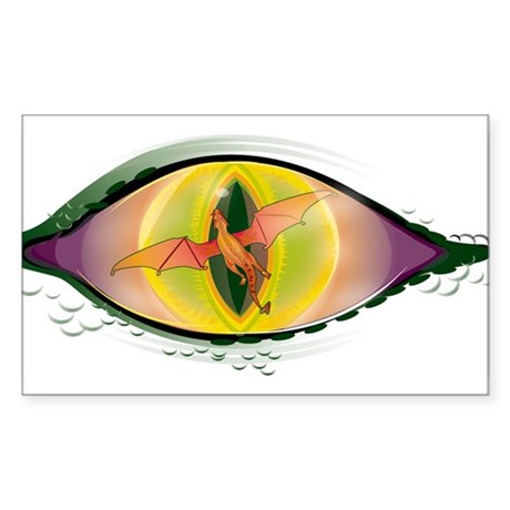 DragonsEye Rectangle Sticker