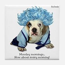 Monday Morning Bulldog Tile Coaster