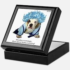 Monday Morning Bulldog Keepsake Box