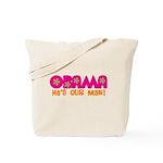 Flower Power Obama Tote Bag