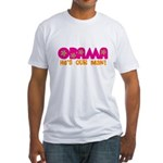 Flower Power Obama Fitted T-Shirt