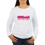 Flower Power Obama Women's Long Sleeve T-Shirt