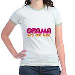 Flower Power Obama Jr. Ringer T-Shirt