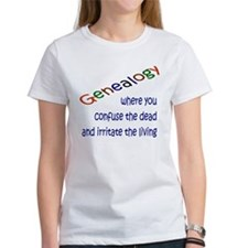 Genealogy Confusion (blue) Tee