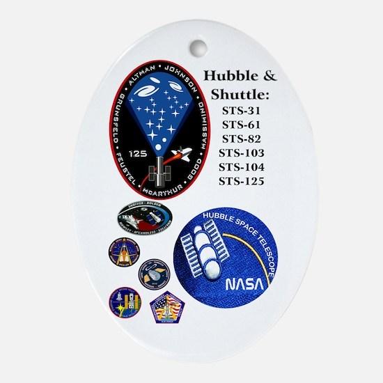 Hubble Composite Oval Ornament
