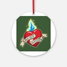 Bette Noir Heart Ornament - Green