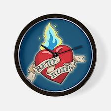 Bette Noir Heart Wall Clock - Blue