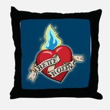 Bette Noir Heart Throw Pillow - Blue
