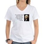 George Washington 13 Women's V-Neck T-Shirt