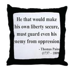 Thomas Paine 3 Throw Pillow