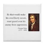 Thomas Paine 3 Tile Coaster